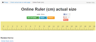 Top 10 Online Actual Size Rulers In Metric And Inches