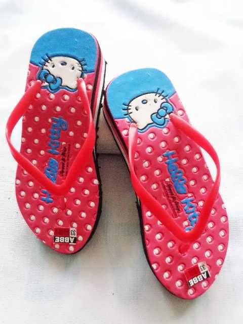 Sandal HK Love Tebal TG   Wedges Murah Anak