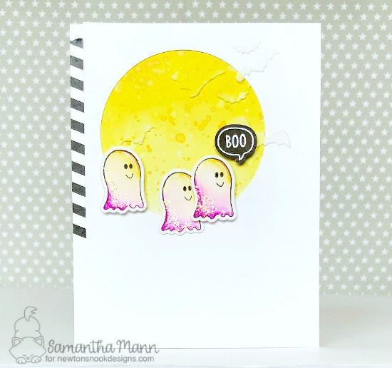 Halloween Ghost Card by Samantha Mann | Boo Hoo Stamp Set by Newton's Nook Designs #newtonsnook #handmade #halloween