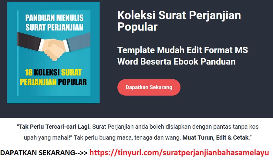 Surat Perjanjian | Koleksi Surat Perjanjian Popular Dalam Bahasa Melayu & Mudah Edit