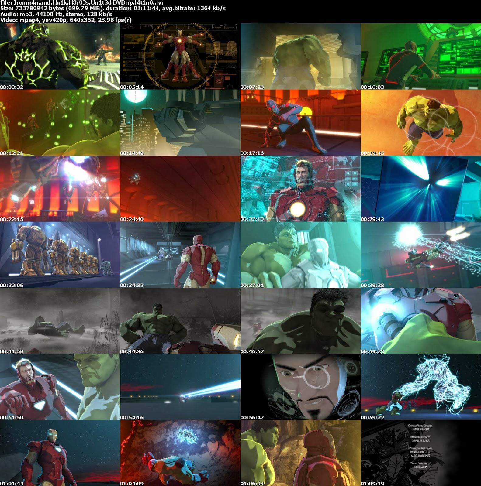 Iron Man y Hulk: Heroes Unidos (2013) DVDRip [Español Latino][Un Link ...
