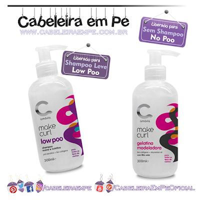 Shampoo E Gelatina Modeladora Make Curl - Amávia (Shampoo Low Poo e Gelatina No Poo)