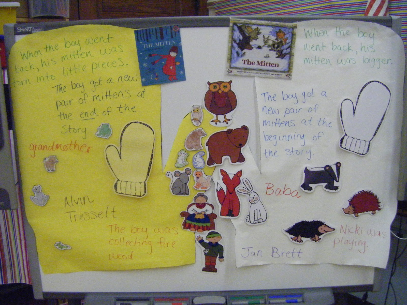 Mrs Unger S Unbelievable Elementary Experiences Photos A Freebie The Mitten And Other