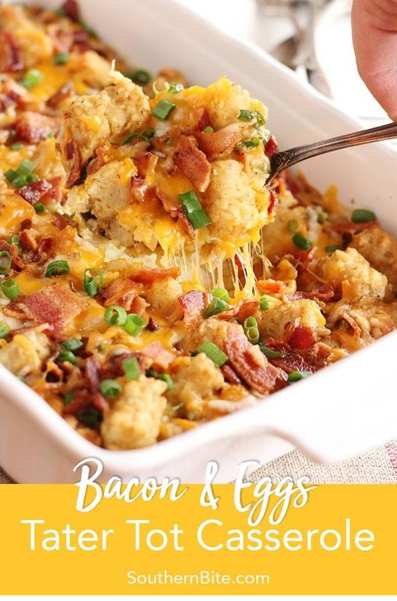 Bacon & Eggs Tater Tot Casserole
