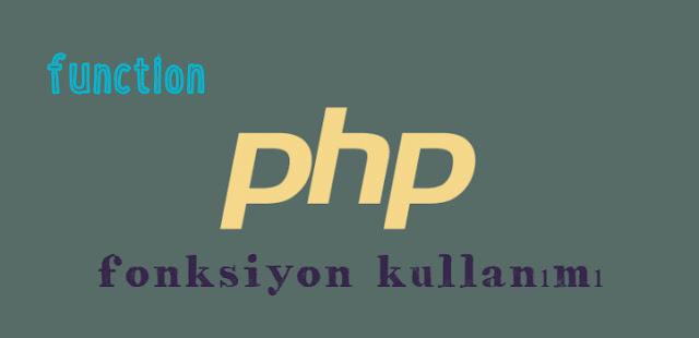 php pdo ile fonskiyon kullanımı