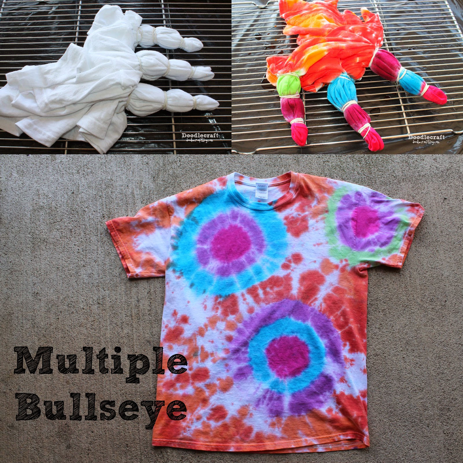 Doodlecraft Tulip Tie Dye T Shirt Party