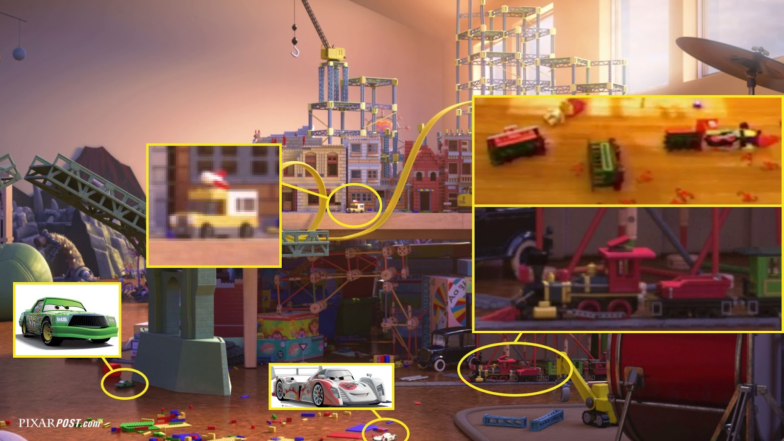 New Toy Story 3 Train : In depth look at the easter eggs hidden toy story that
