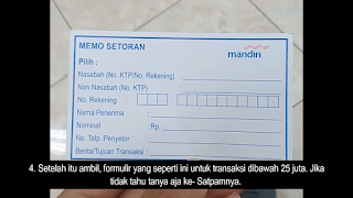 Formulir Transfer Uang Bank Mandiri