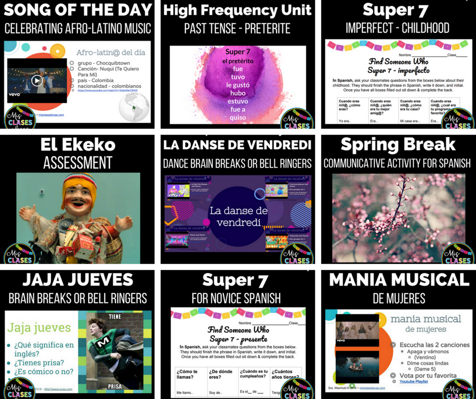 New resources from Mis Clases Locas
