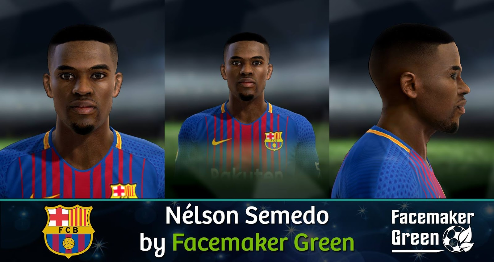 PES 2013 Nélson Semedo (Barcelona) Face by Facemaker Green