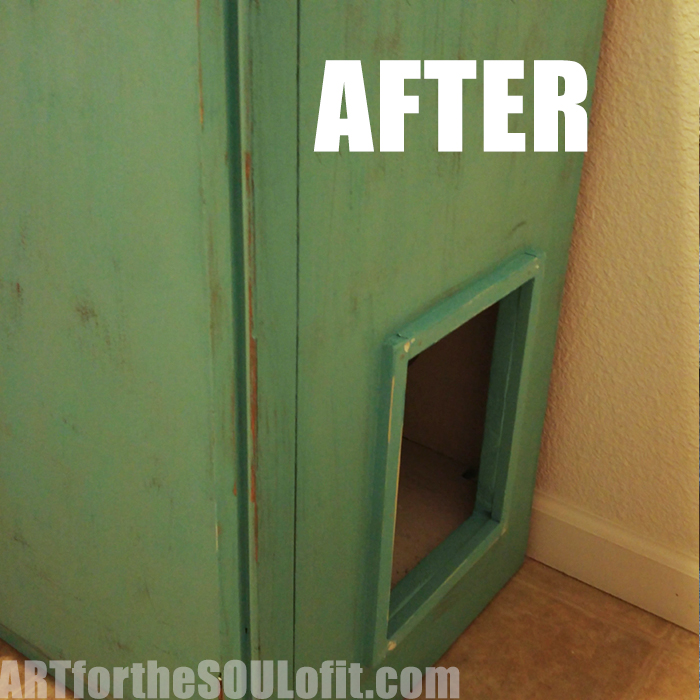 DIY Kitty Litter Furniture Makeover