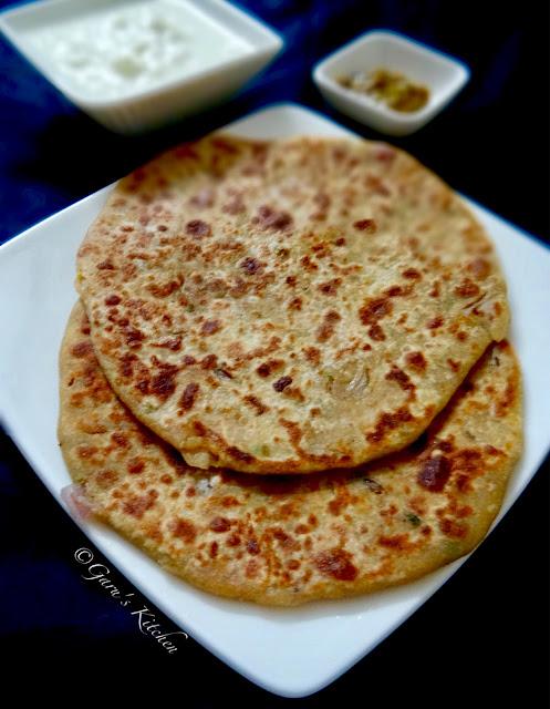 aloo pyaaz paratha recipe | flatbread stuffed with potato and onions | how to make aloo paratha
