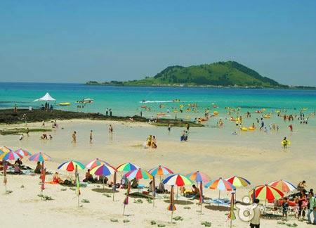 Hyeopjae Beach Jeju Island South Korea