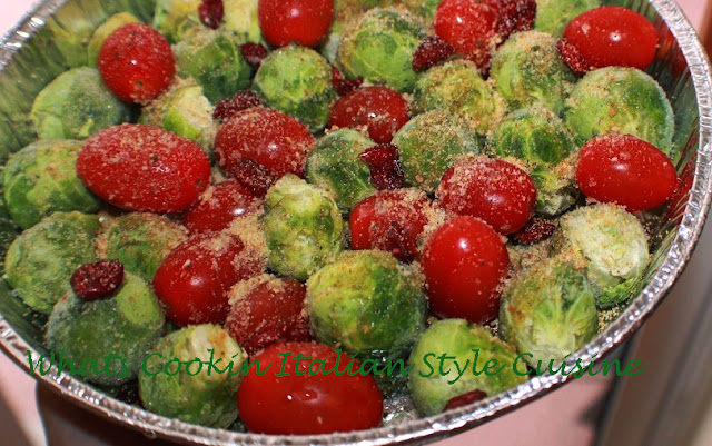 Roasted Tomato Brussels