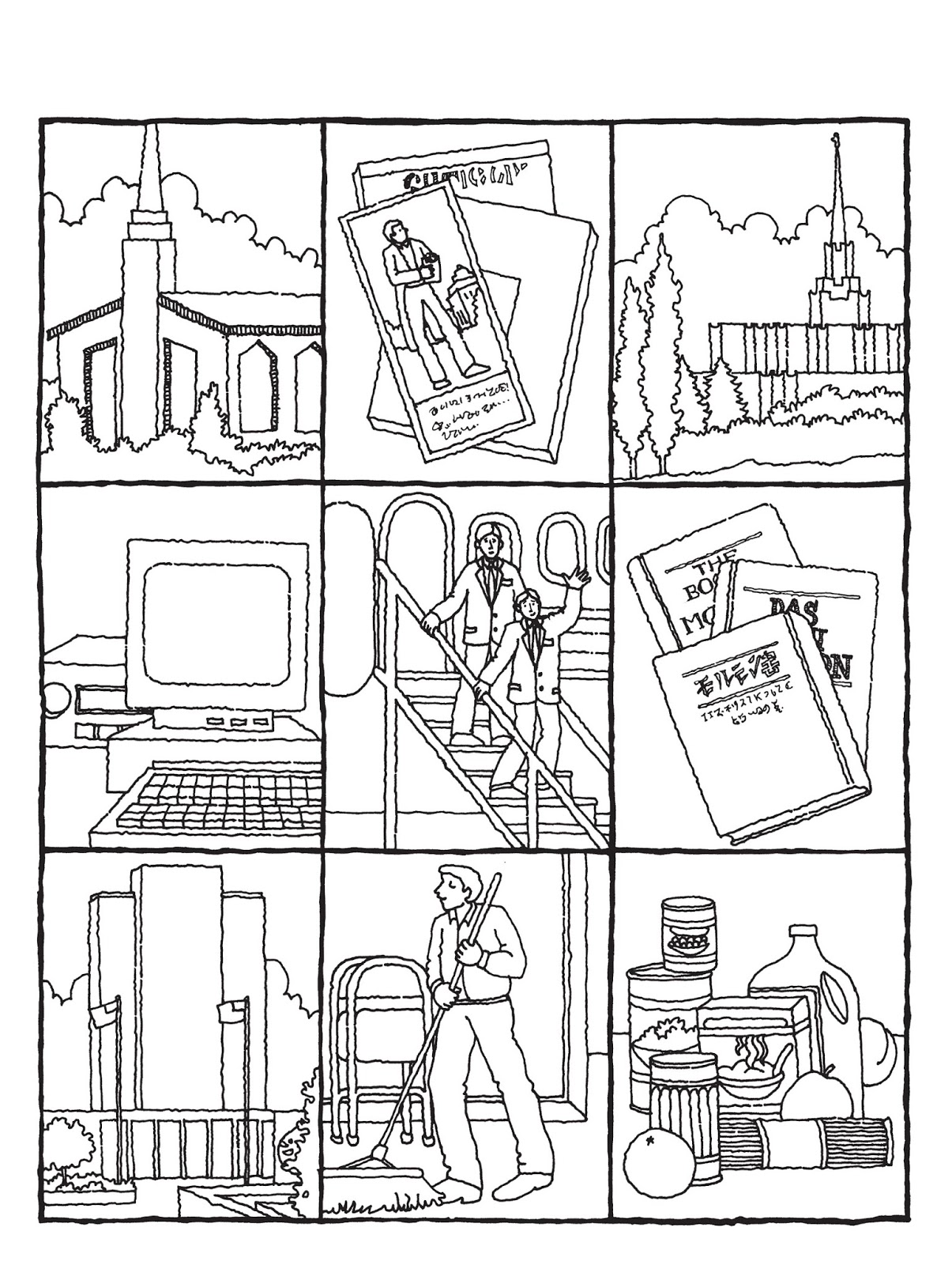 Lujoso Página Para Colorear De Joseph Smith First Vision Composición ...