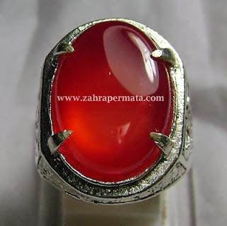 Cincin Batu Red Carnelian Chalcedony