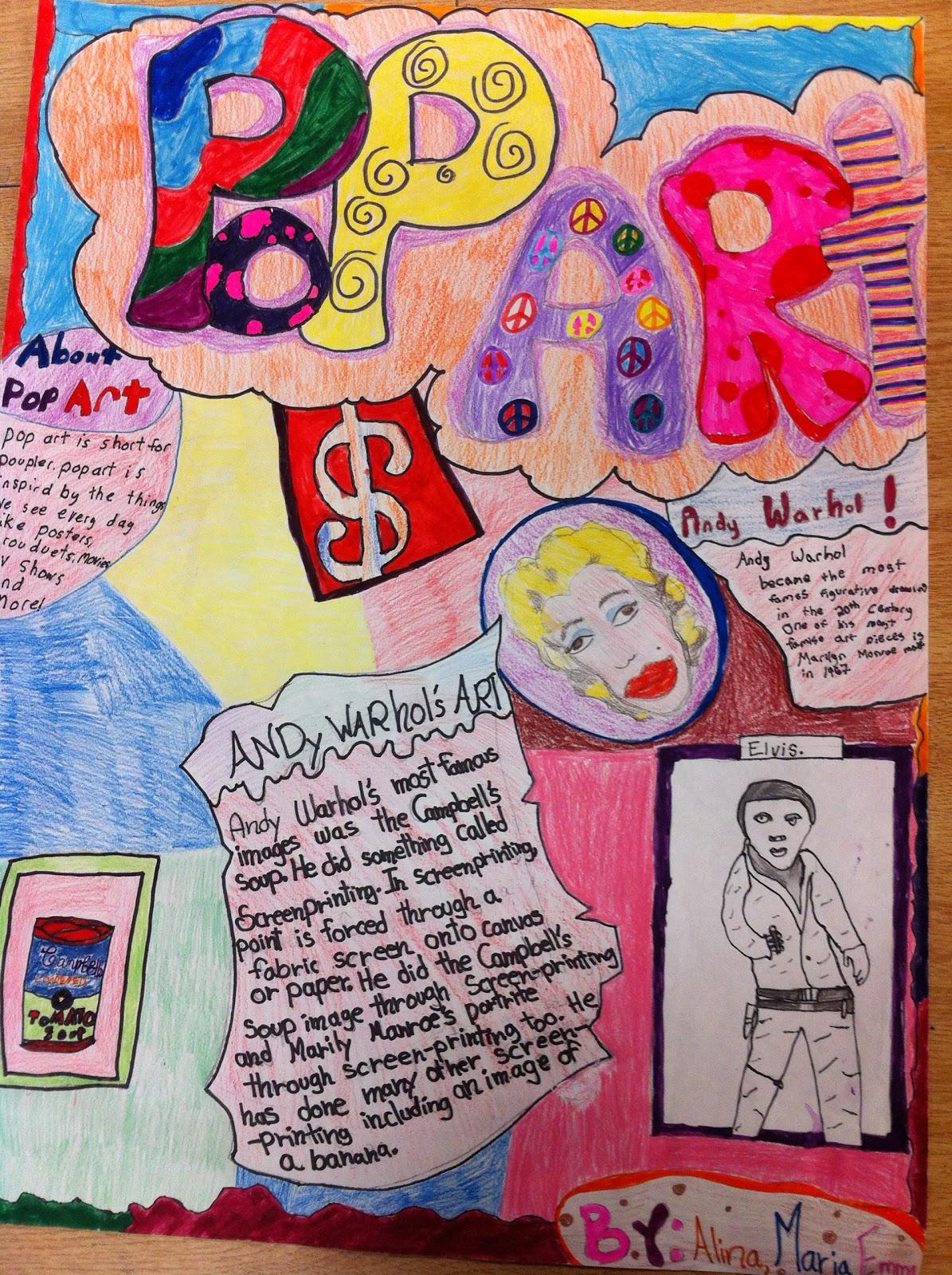 Pieces Of Me Art Gallery Pop Art Posters Grade 5 Amp 6 Art
