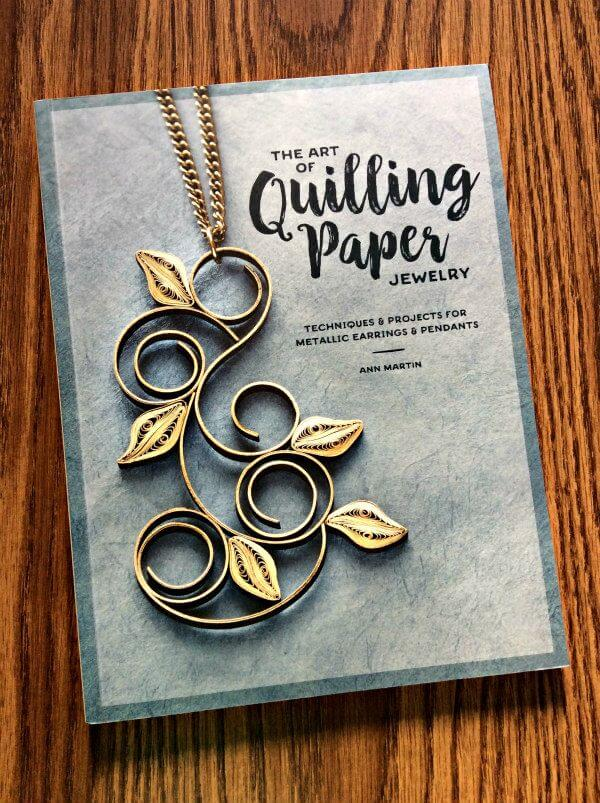 The Art of Quilling Paper Jewelry, how-to book cover