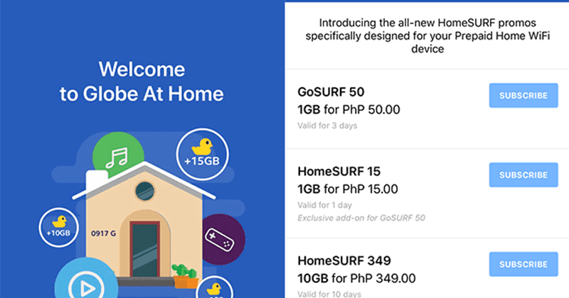 Globe At Home Launches HomeSurf 15