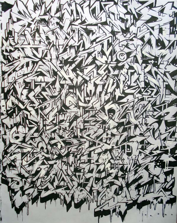 Graffiti Wallpapers Romanian Wildstyle Graffiti Alphabet With Black