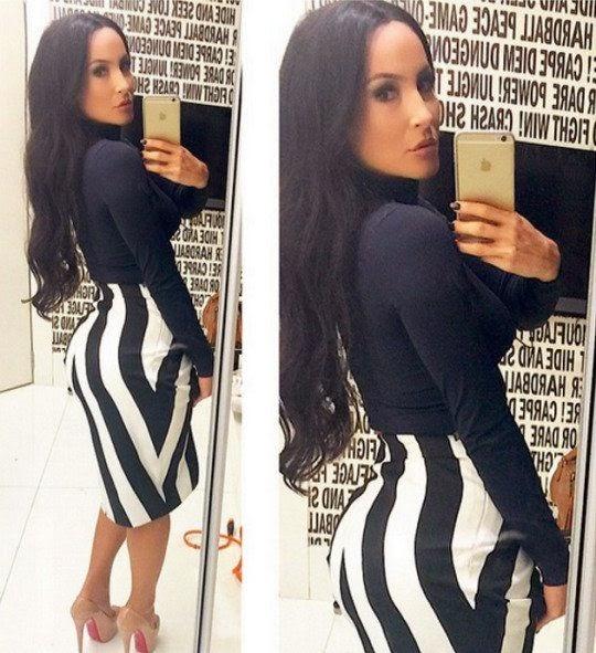 Claudia Leite vestida de Kim Kardashian