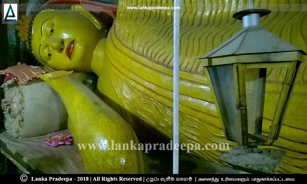 The reclining Buddha statue, Vanamandawa