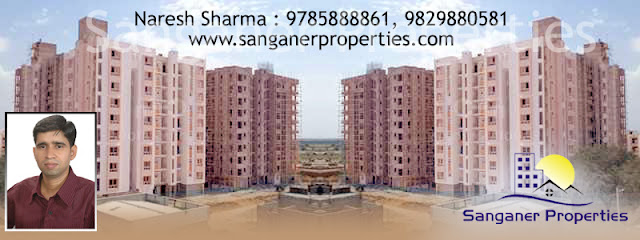 2 BHK Flats in Ananda city Road, Sanganer