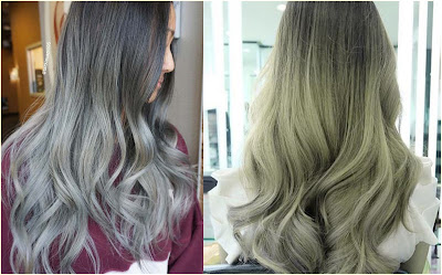 Glorious Ash Platinum Ombre - Two Tone Hair Color Ideas For Long Hair Best Combinations