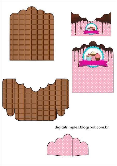 Chicas Haciendo Cupcakes: Soporte para Golosinas para Imprimir Gratis.