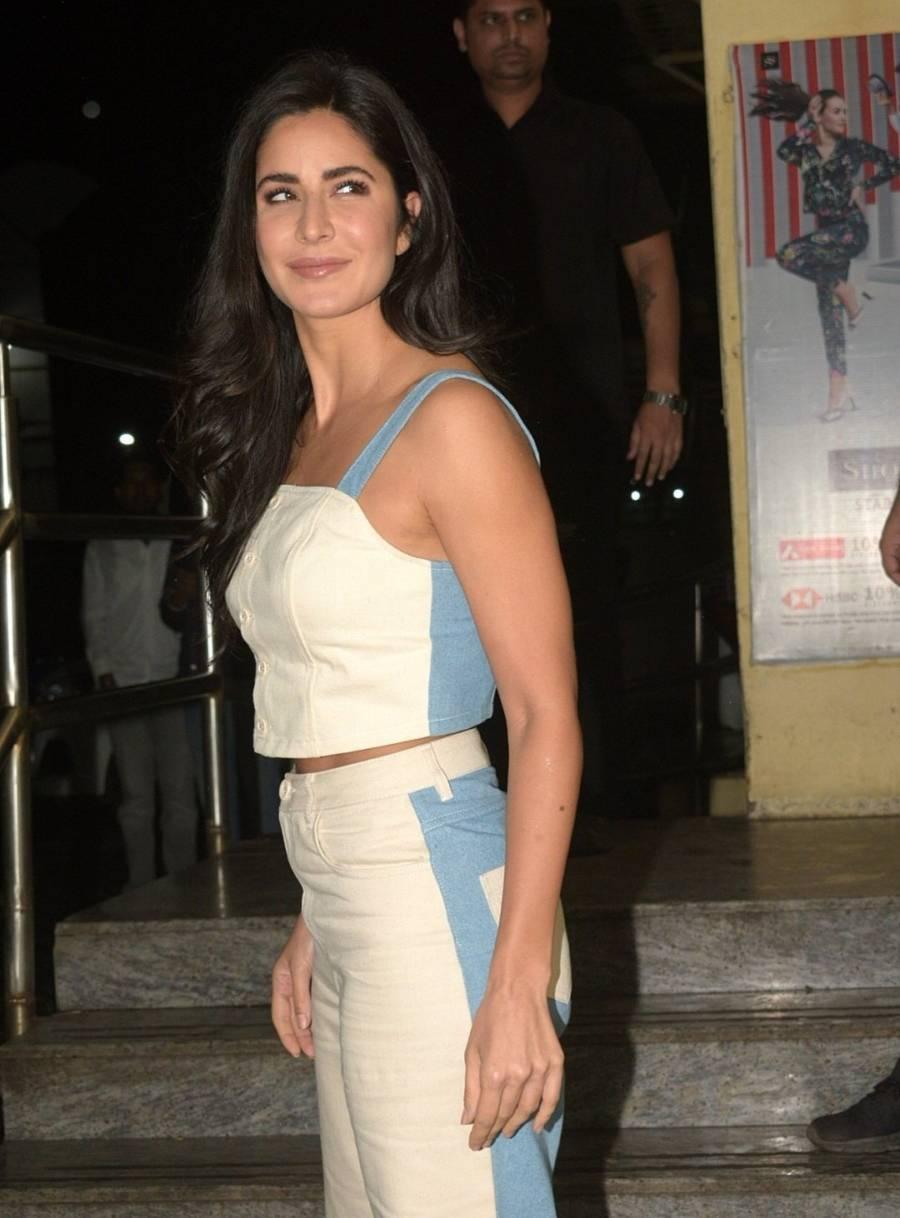 Indian Actress Katrina Kaif At Screening Of Zoya Factor