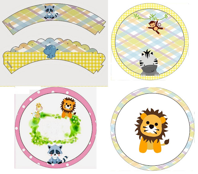 Baby Jungle: Free Printable Wrappers and Toppers.