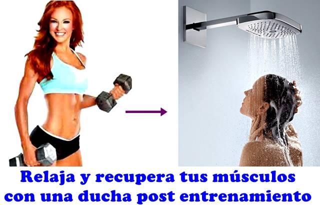 La ducha post entrenamiento es clave para agilizar la recuperación muscular