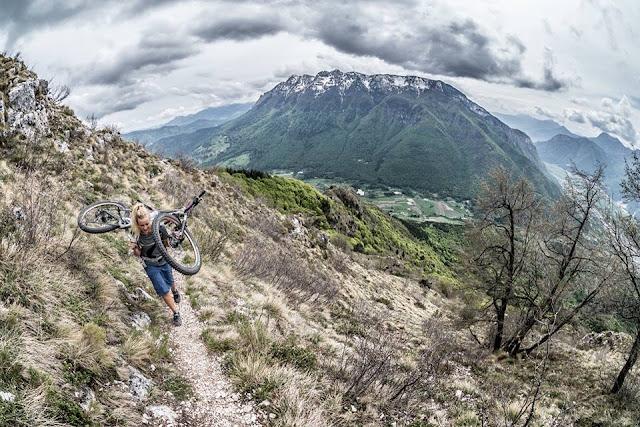 monte marzola mountainbike tour bikebergsteigen gps