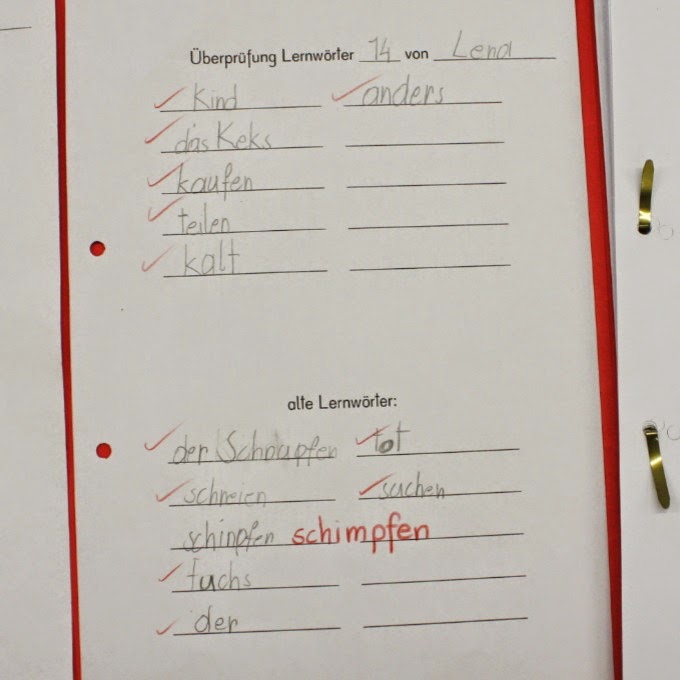 Das verfuchste Klassenzimmer: Lernwörter Klasse 1/2