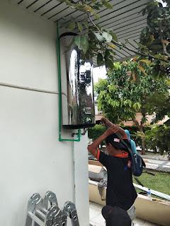 Pemasangan WIKA Aircon Water Heater (WIKA AWH) kapasitas 100L