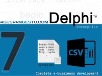 Cara Membaca File CSV (Comma Separated Values) di Delphi 7