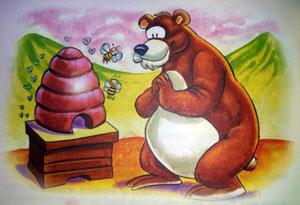 fabula el oso y la colmena