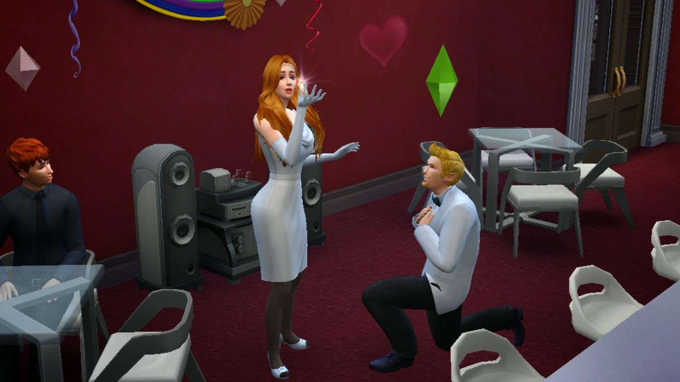 Sims 4 engagement,marriage proposal