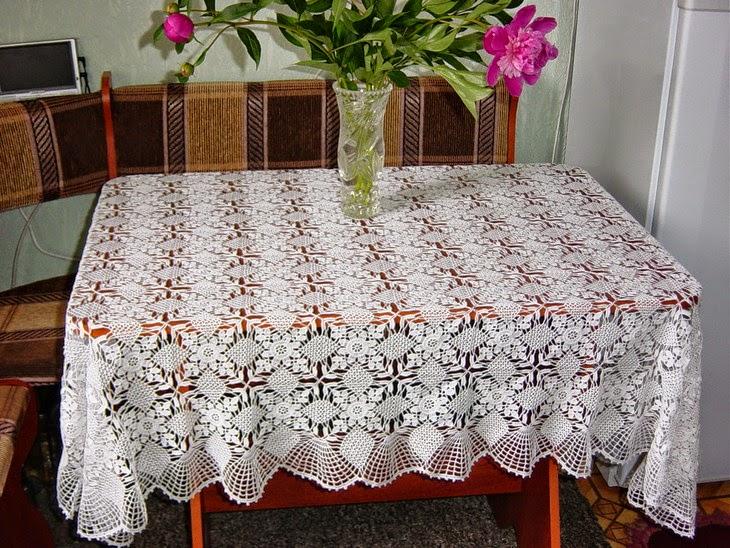 Patrones de Finsimo Mantel hecho con Ganchillo  Crochet