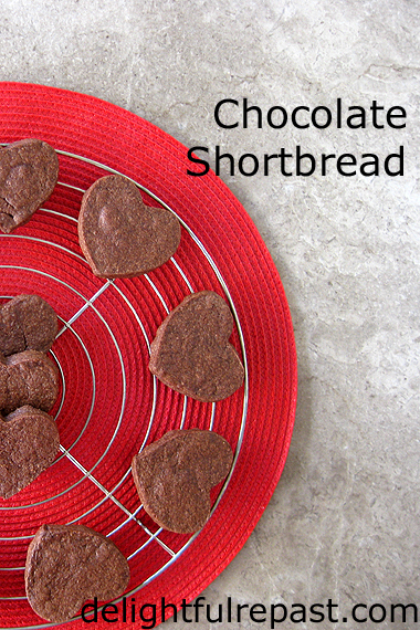 Chocolate Shortbread Hearts (but you can make any shape you want) / www.delightfulrepast.com