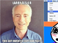 "Know Larry Tesler, inventor Hero features a ""copy-paste"""