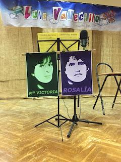 Por Rosalía e Mª Victoria no auditorio das Neves
