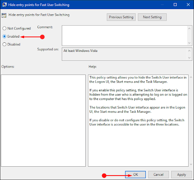 Methods to Disable Fast User Switching on Windows 10