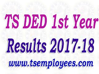 Telangana/TS DED 1st Year Results 2017-18