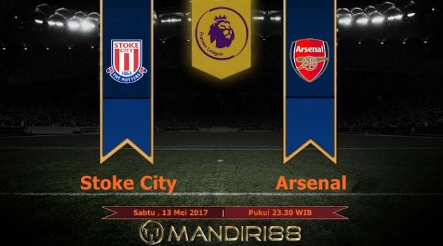 Prediksi Bola : Stoke City Vs Arsenal , Sabtu 13 Mei 2017 Pukul 23.30 WIB