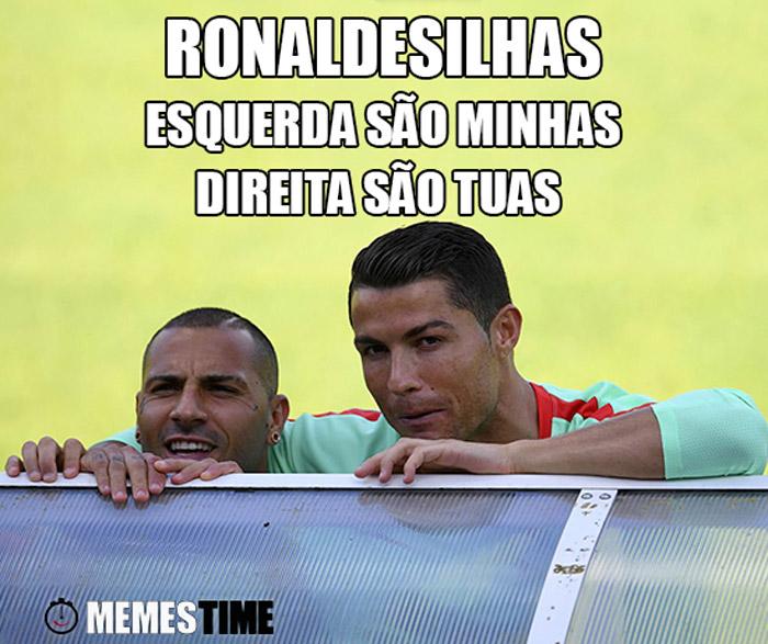 Meme Cristiano Ronaldo & Ricardo Quaresma – Ronaldesilhas, as da Esquerda são minhas, as da Direita são tuas