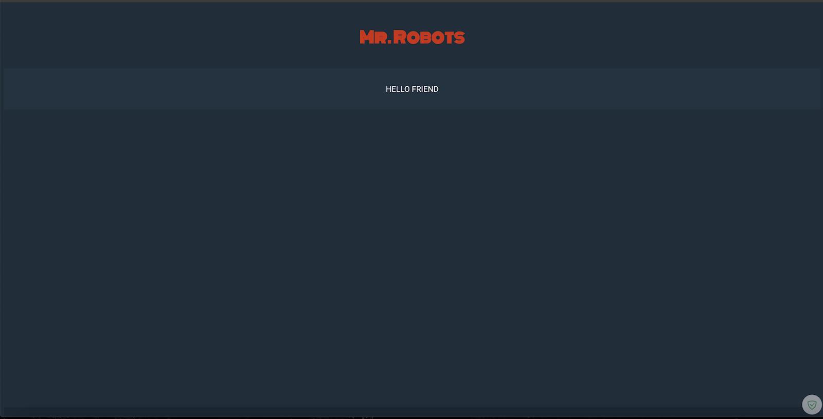picoCTF 2018 Write-up : Mr Robot