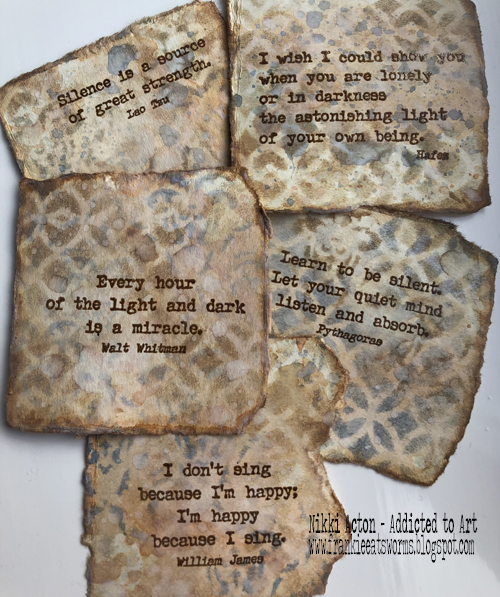 Mini book pages - EAB02 and EAB03 - PaperArtsy stamps.