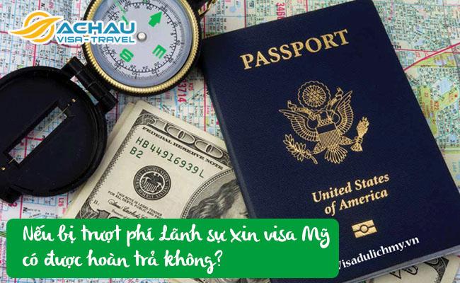phi lanh su xin visa my co duoc hoan tra khong