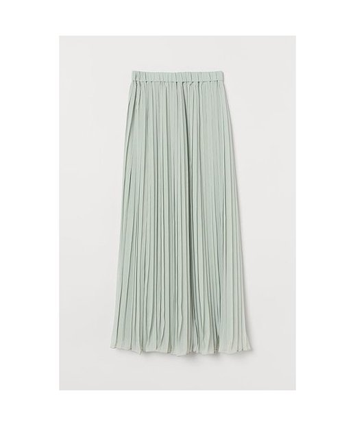H & M - Plissierter Rock - Green - Damen